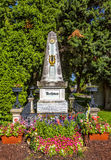 Grave of composer Ludwig van Beethoven in Cemetery in Vienna. Grave of composer Ludwig van Beethoven at the Zentralfriedhof Cemetery in Vienna, Austria stock images