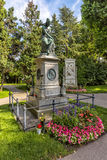 Grave of composer Wolfgang Amadeus Mozart  in Cemetery in Vienna Stock Photography