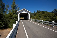 Grave Creek Bridge Stock Photography