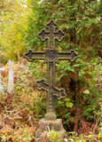 Grave with cross Stock Photo