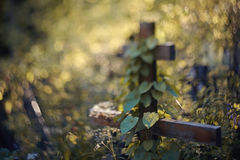 Grave with a cross Royalty Free Stock Photos