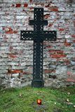 Grave cross, Poland. Metal cross on a grave Royalty Free Stock Photo