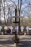 Grave crosses near the brandenburger tor Berlin Royalty Free Stock Image