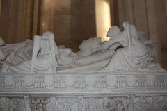 Grave of D Ines Alcobaça Monastery Royalty Free Stock Images