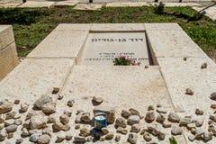 Grave of David Ben-Gurion, Israel Stock Photos