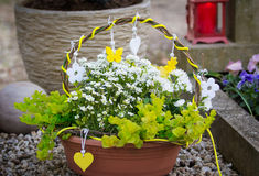 Grave decoration in spring Stock Photos