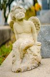 A grave decoration or grave statue royalty free stock photos