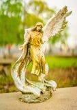 A grave decoration or grave statue stock images