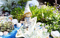 Grave decoration in summer Stock Images