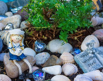 Grave decoration in summer Stock Photography