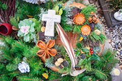 Grave Decoration Stock Image