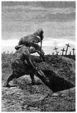 Grave Digging Stock Photography