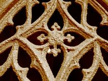 Grave door ornament Stock Image