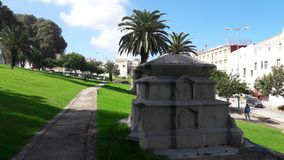 Grave of dromadaires. View of gravity in tangier Royalty Free Stock Photos