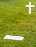 Grave of Edward moore Kennedy in Arlington Royalty Free Stock Image