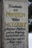 Grave of the family Mozart - Salzburg, Austria Stock Image