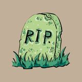 Grave flat design vector Stock Images