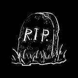 Grave flat design vector Royalty Free Stock Image