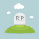 Grave flat design Stock Photography