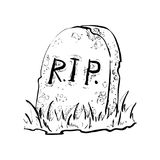 Grave flat design vector Royalty Free Stock Images
