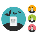 Grave flat Stock Photography