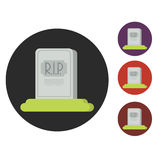 Grave flat Royalty Free Stock Photography