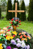 Grave  with flowers Royalty Free Stock Photography