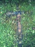 Grave. A forgotten grave Stock Photos