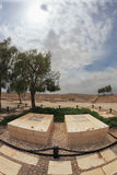 The grave of the founder of Israel. Kibbutz Sde Boker in the Negev desert. The grave of the founder of Israel, David Ben-Gurion and his wife Pauline Royalty Free Stock Photo