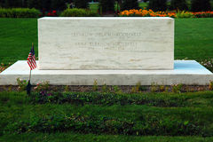 Grave of Franklin and Eleanor Roosevelt Stock Photo