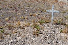 Grave in Goldfield cemetery Royalty Free Stock Photography