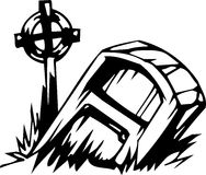 Grave - Halloween Set - vector illustration Royalty Free Stock Photo