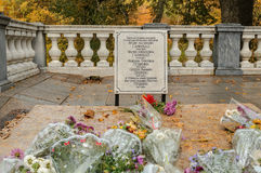 Grave of Hannibal- Pushkin in the Svyatogorsky Monastery Royalty Free Stock Photo