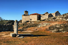 Grave in historical village of Castelo Mendo Royalty Free Stock Photography