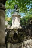 The grave of Honore de Balzac at Pere Lachaise cemetery in Paris Royalty Free Stock Photography