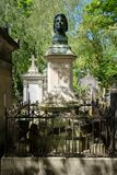 The grave of Honore de Balzac at Pere Lachaise cemetery in Paris Stock Photo