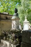 The grave of Honore de Balzac at Pere Lachaise cemetery in Paris Stock Image