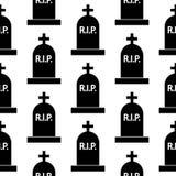 Grave icon seamless pattern Royalty Free Stock Photos