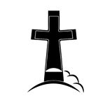 Grave icon vector Stock Photography