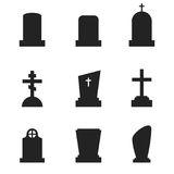 Grave icons Stock Images