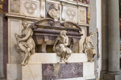 Grave of the Italian sculptor, painter, architect, poet, and eng Stock Image