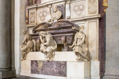 Grave of the Italian sculptor, painter, architect, poet, and eng Royalty Free Stock Image
