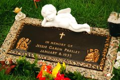 Jessie Garon Presley grave royalty free stock photography