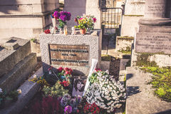 Grave of Jim Morrison Stock Photo