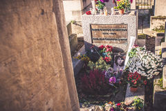 Grave of Jim Morrison Royalty Free Stock Images