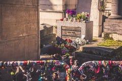 Grave of Jim Morrison Stock Image