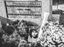 Grave of Jim Morrison Royalty Free Stock Photography