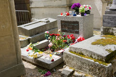 Grave of Jim Morrison Royalty Free Stock Photo