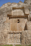 Grave of king Daeiros near Persepolis stock photo