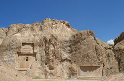 Grave of king Daeiros near Persepolis Stock Photo